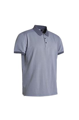 Show details for Abacus Men's Amic Polo Shirt - Grey Melange