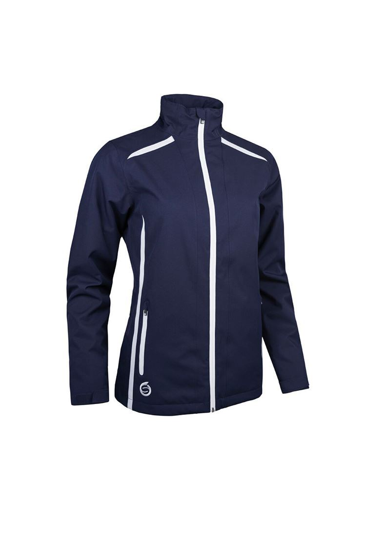 Picture of Sunderland of Scotland Ladies Killy Waterproof Jacket - Navy / White