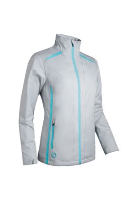 Show details for Sunderland of Scotland Ladies Killy Waterproof Jacket - Silver / Aqua