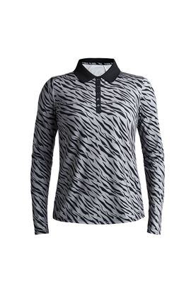 Show details for Rohnisch Ladies Achieve Polo Shirt - Grey Zebra