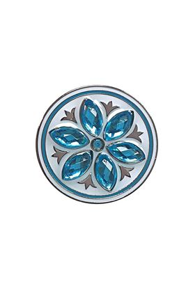 Show details for Surprizeshop Individual Ball Marker - Crystal Flower Ball Marker - Aqua