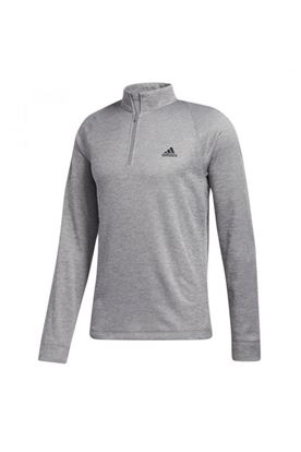 Show details for adidas Midweight Half Zip Sweater - Grey Three