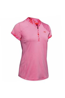 Show details for Under Armour UA Zinger Zip Polo - Pink 691