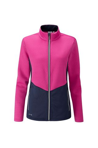 Picture of Ping zns Women's Florrie Fleece Jacket - Fuchsia / Oxford Blue