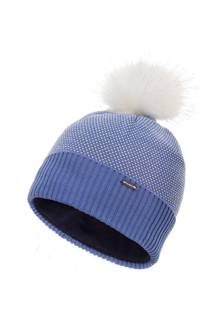 Picture of Ping Golf Ladies Birdseye Knit Bobble Hat - Dark Grapemist Multi