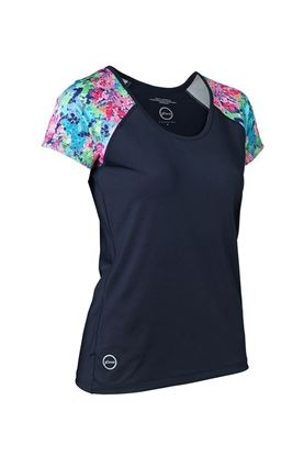 Show details for Daily Sports Ladies Bloom Tee - Navy