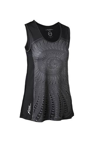 Picture of Daily Sports Ladies Shell Tank - Black/Shell
