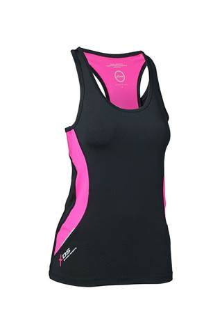 Picture of Daily Sports Ladies Max Tank/Singlet - Black/Strawberry