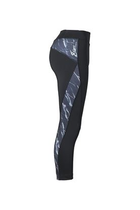 Show details for Daily Sports Ladies Marble  Crop Tights - Black/Marble