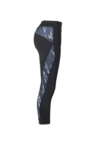 Picture of Daily Sports Ladies Marble  Crop Tights - Black/Marble