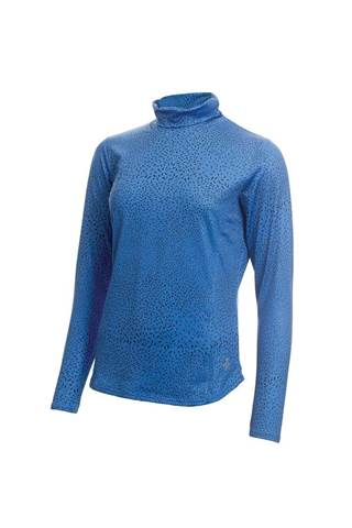 Picture of Green Lamb Ladies Rhoda Printed Roll Neck - Sky