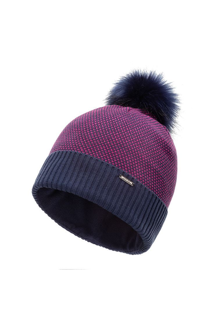 Picture of Ping Golf Ladies Birdseye Knit Bobble Hat - Oxford Blue Multi
