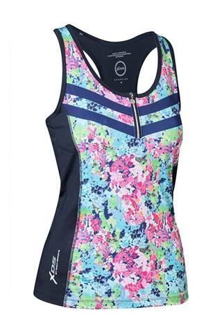 Picture of Daily Sports Ladies Bloom Tank/singlet - Navy