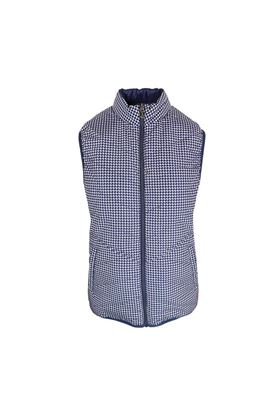 Show details for Island Green Ladies Ultra Light Reversible Gilet - Navy/Raspberry