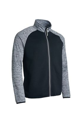Show details for Abacus Men's Turnberry 3D Stripe Fleece Full Zip - Dark Grey Melange