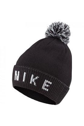 Show details for Nike Golf Reversible Bobble Beanie Hat - Black / White