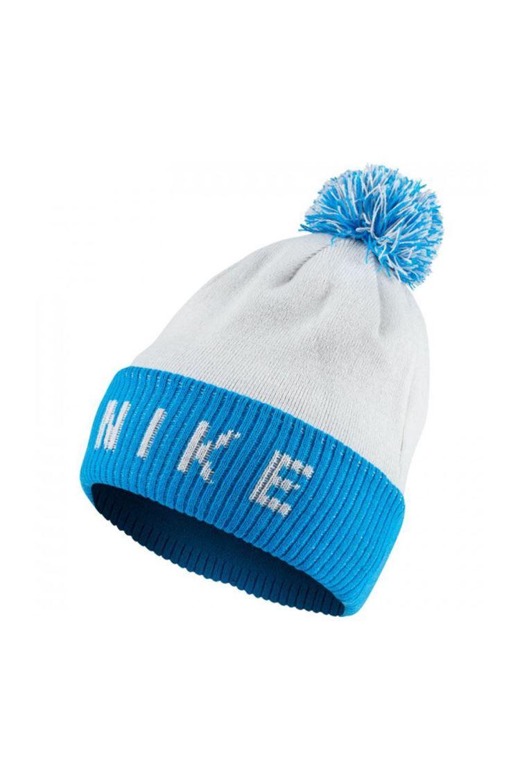 Picture of Nike Golf Men's Reversible Bobble Beanie Hat - Pure Platinum / Photo Blue