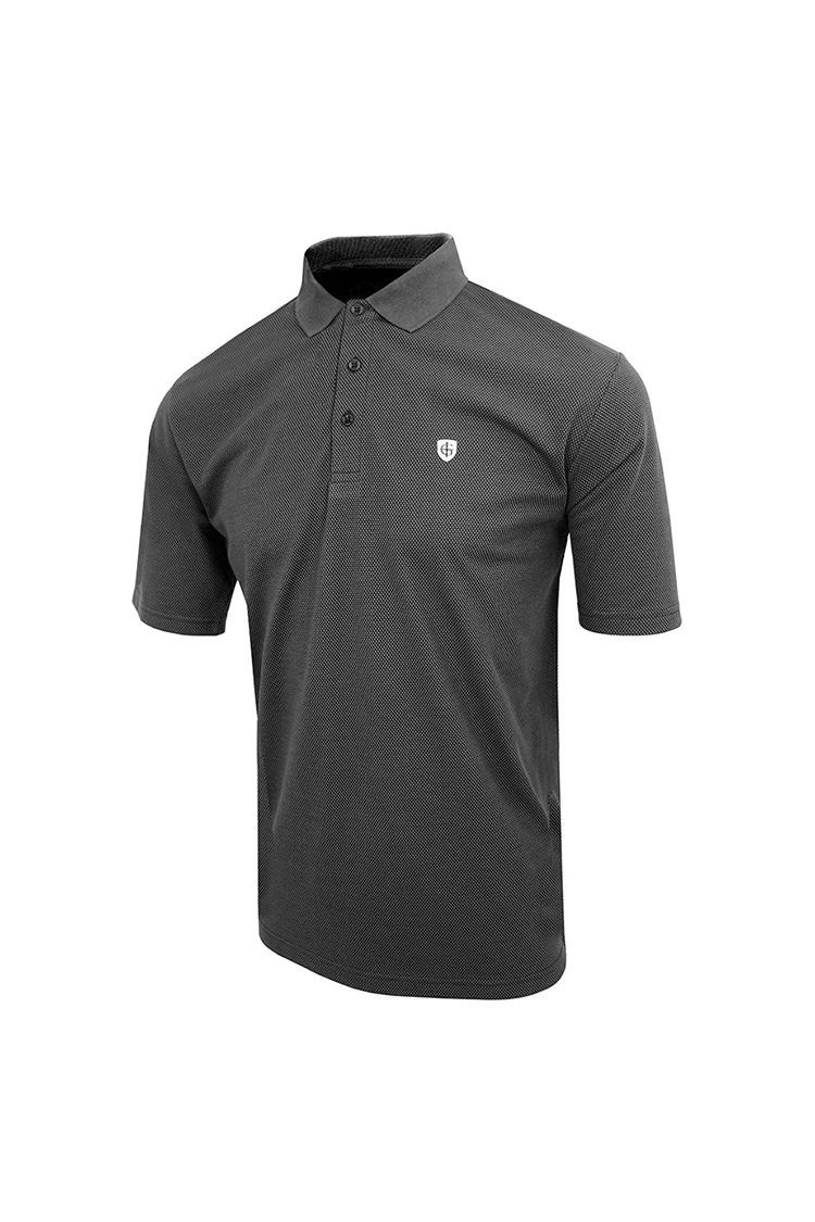 Picture of Island Green Honeycomb Polo - Charcoal