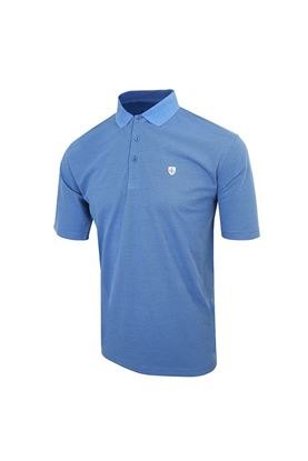 Show details for Island Green Honeycomb Polo - Purist Blue