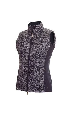 Picture of Green Lamb Ladies Kassi Padded Gilet - Navy Crackle