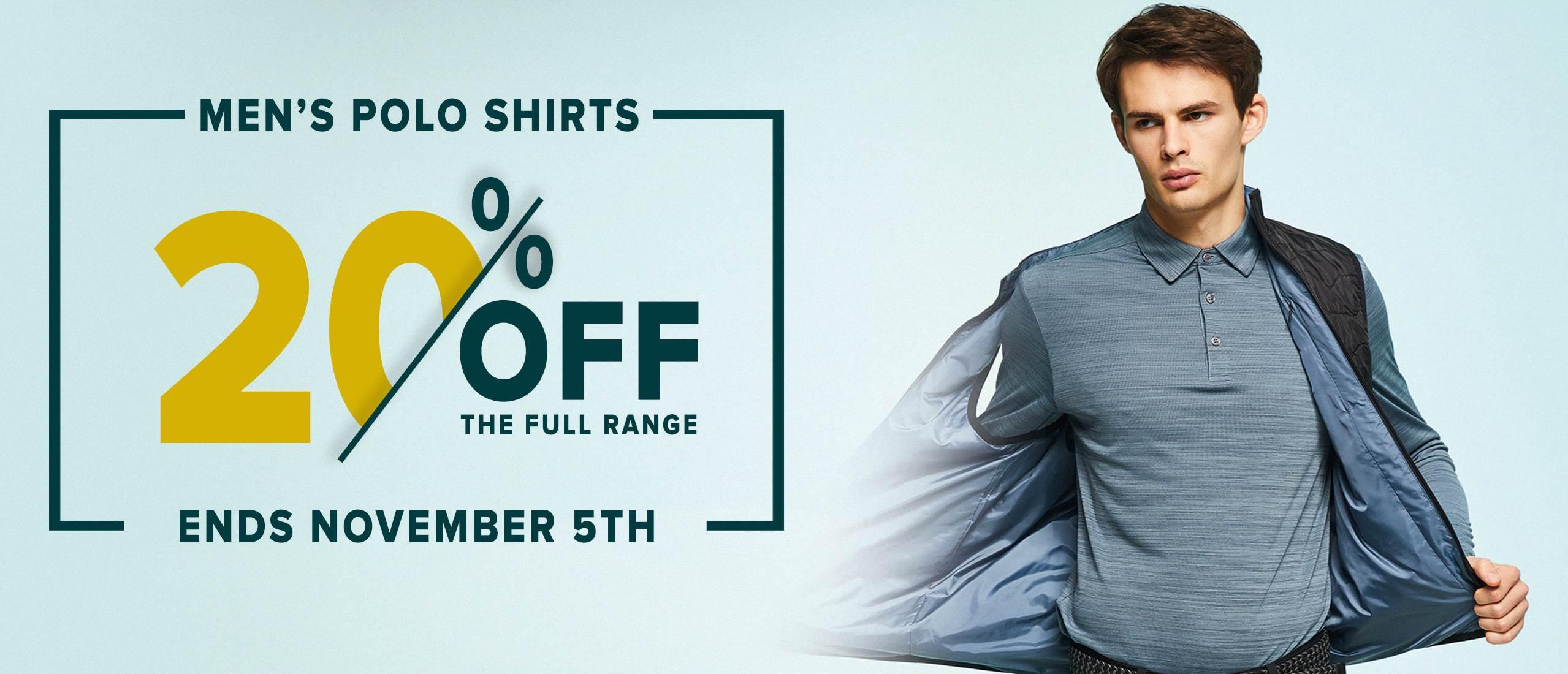 Mens Golf Polo Shirts sale