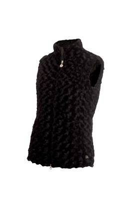 Show details for Green Lamb Ladies Katherine Fun Fur Gilet - Black