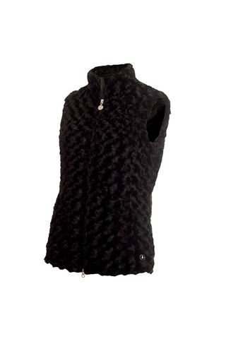 Picture of Green Lamb Ladies Katherine Fun Fur Gilet - Black
