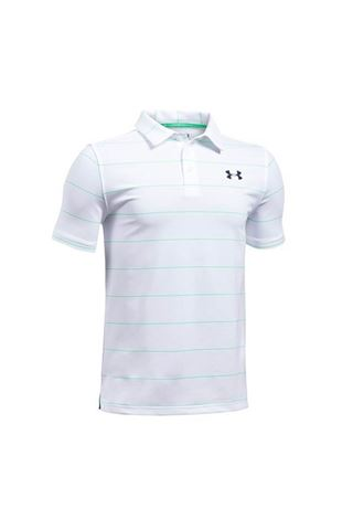Picture of Under Armour UA Junior Playoff Strip Polo - White/Vgrn/Acad