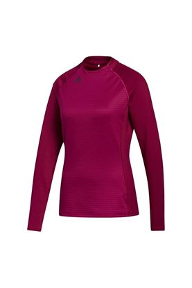 Show details for adidas Golf Women's Cold RDY Long Sleeve Mock Neck Top - Power Berry