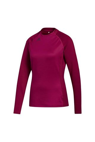 Picture of adidas Golf Women's Cold RDY Long Sleeve Mock Neck Top - Power Berry