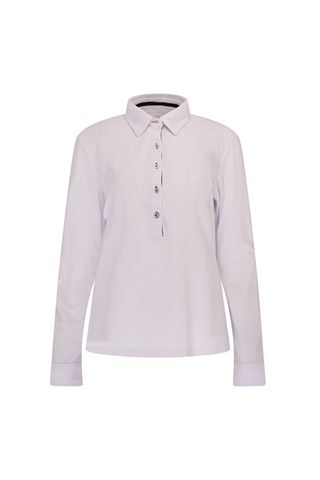 Picture of Swing Out Sister Aspen Long Sleeve Polo - White