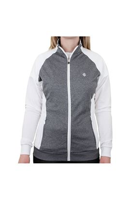 Show details for Island Green Ladies Jersey Full Zip Jacket - Grey Marl/White