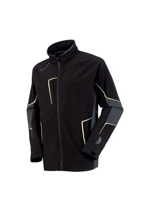 Show details for Sunice Men's Chad Zephal Waterproof Jacket - Black / Charcoal / Citrus