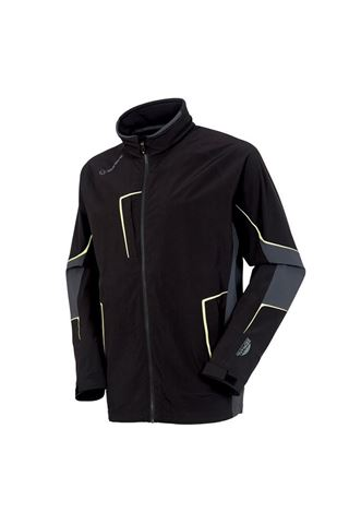Picture of Sunice Men's Chad Zephal Waterproof Jacket - Black / Charcoal / Citrus