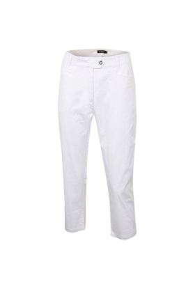 Show details for Island Green Ladies Mid Length Cropped Pant - White/Candy