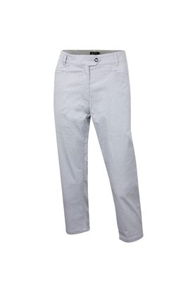 Show details for Island Green Ladies Dot Capri Pants - Silver Grey / Black