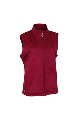 Show details for Island Green Ladies Quilted Fleece Gilet - Red Heather