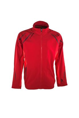 Show details for Sunice Men's Carleton Zephal Waterproof Jacket - Merlot / Scarlet Flame