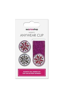 Show details for Surprizeshop Glitter Anywear Ball Marker Clips - Pink