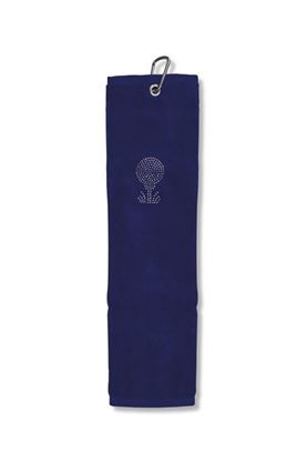 Show details for Surprizeshop Crystal Golf Ball Tri-fold Towel - Navy