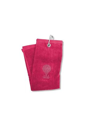 Show details for Surprizeshop Crystal Golf Ball Tri-fold Towel - Pink