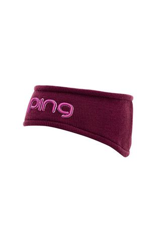 Picture of Ping zns Ladies Knitted Headband - Garnet