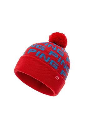Show details for Ping Men's Logo Bobble Mono Golf Hat - Red / Bright Blue
