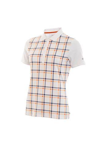 Picture of Calvin Klein Ladies Americana Polo Shirt - White / Pure Orange ***