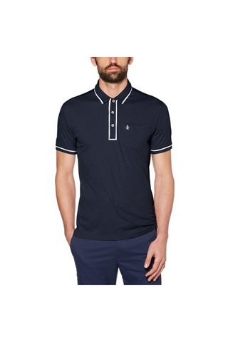 Picture of Original Penguin The Golfer Earl Polo Shirt - Black Iris