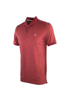Show details for Original Penguin Dot Collar Pete Polo Shirt-- Biking Red