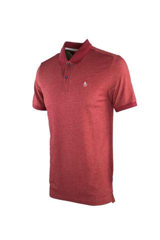 Picture of Original Penguin Dot Collar Pete Polo Shirt-- Biking Red