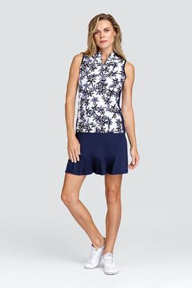 Show details for Tail Ladies Lindi Sleeveless Polo Top - Flash Floral