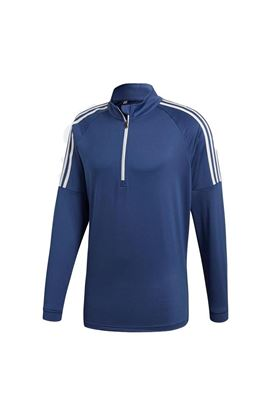 Show details for adidas Men's 3 Stripe 1/4 Zip Sweater - Noble Indigo