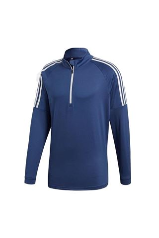 Picture of adidas Men's 3 Stripe 1/4 Zip Sweater - Noble Indigo